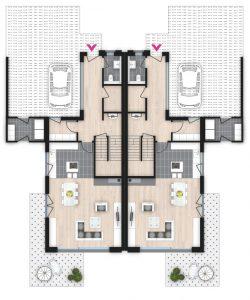 Doppelhaus Rödermark Grundriss