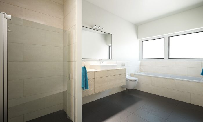 Doppelhaushälte, Tageslicht-Bad