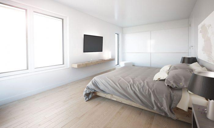 Doppelhaushälte, Schlafzimmer, optional mit einem Ankleidezimmer.