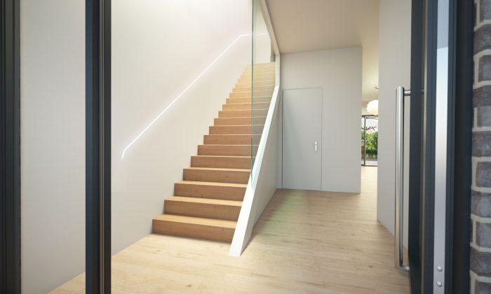 Haus Heusenstamm Eingang, Treppe